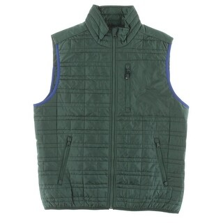 Tommy Hilfiger Mens Outerwear Vest Quilted Reflective