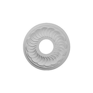 "Ekena Millwork CM11BL 11.75"" Wide Blackthorne Ceiling Medallion"