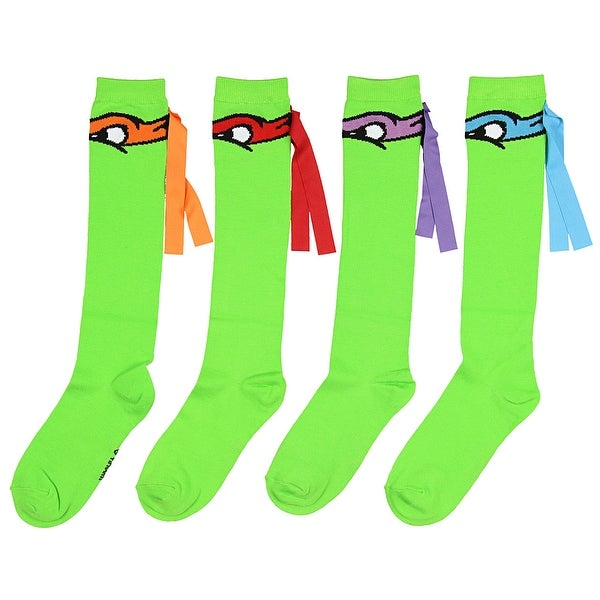 8636b6b06 Shop Teenage Mutant Ninja Turtles Mix And Match 4 Pack Knee High Socks -  Free Shipping On Orders Over  45 - Overstock - 22799957