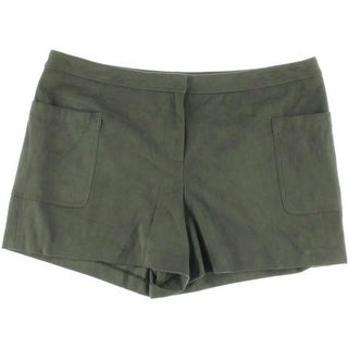 Vince Camuto Womens Faux Suede Flat Front Dress Shorts