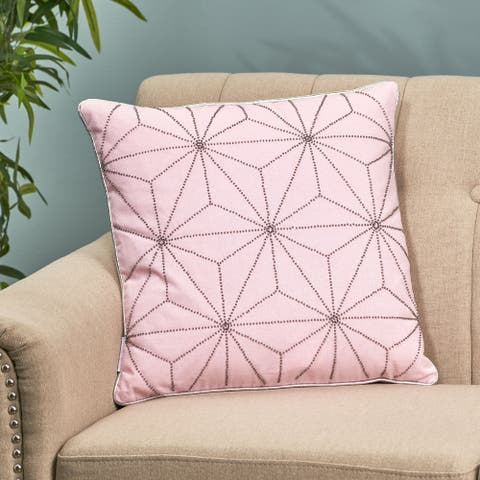 Ashby Modern Fabric Throw Pillow Cover by Christopher Knight Home