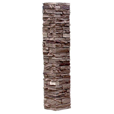 NextStone Polyurethane Faux Stone Post Cover - 1pc Sleeve
