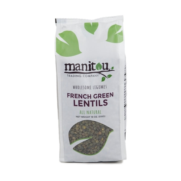 Manitou French Green Lentils - Case of 6 - 18 oz.