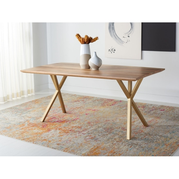 """SAFAVIEH Couture Barron Rectangle Dining Table - 68.9"""" W x 35.4"""" L x 29.9"""" H. Opens flyout."""