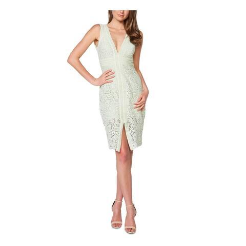 BARDOT Ivory Sleeveless Knee Length Body Con Dress Size 4\XS
