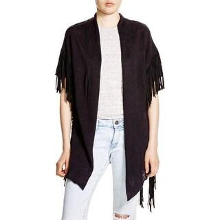 Moon & Meadow Womens Cardigan Sweater Linen Fringe