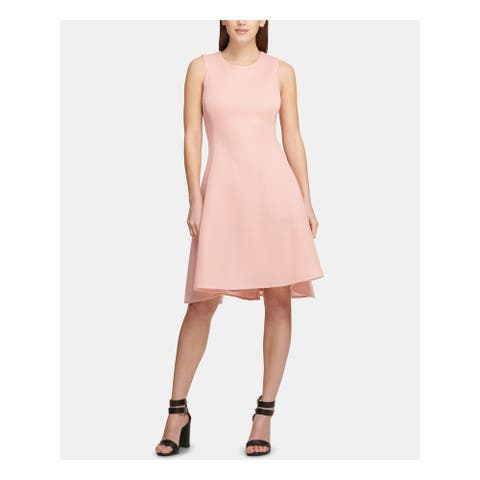 DKNY Pink Sleeveless Above The Knee Fit + Flare Dress Size 2