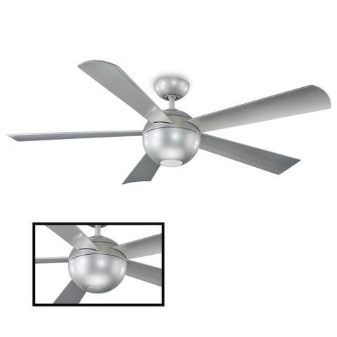 Orb 62 Inch Five Blade Indoor / Outdoor Smart Ceiling Fan with Six Speed DC Motor and LED Light
