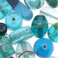 Lampwork Glass Beads Aqua Turquoise Blue Mix Assorted Styles & Shapes (8.5 oz) - Thumbnail 0
