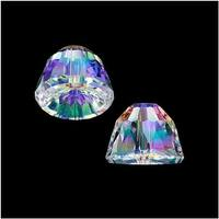 Swarovski Elements Crystal, 5542 Dome Beads 11mm, 2 Pieces, Crystal AB