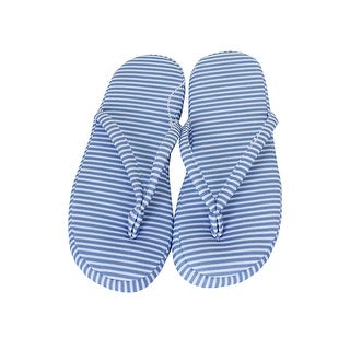 Charter Club Blue Striped Slippers (.-.) M