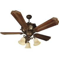 "Craftmade K10767 Toscana 56"" 5 Blade Indoor Ceiling Fan - Blades and Light Kit Included - Peruvian - N/A"