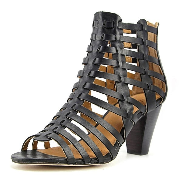 Corso Como Cour Women Open Toe Leather Black Sandals