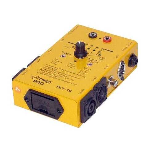 Pyle pct10 pyle pro 8 plug pro audio cable tester