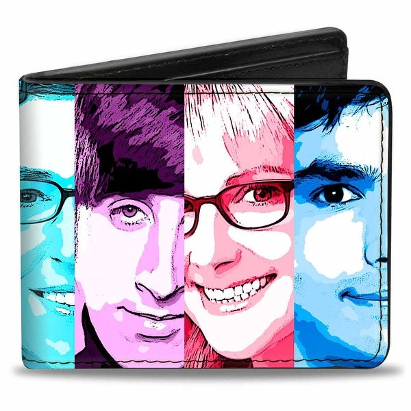 The Big Bang Theory Characters Panels Multi Color Bi Fold Wallet - One Size Fits most