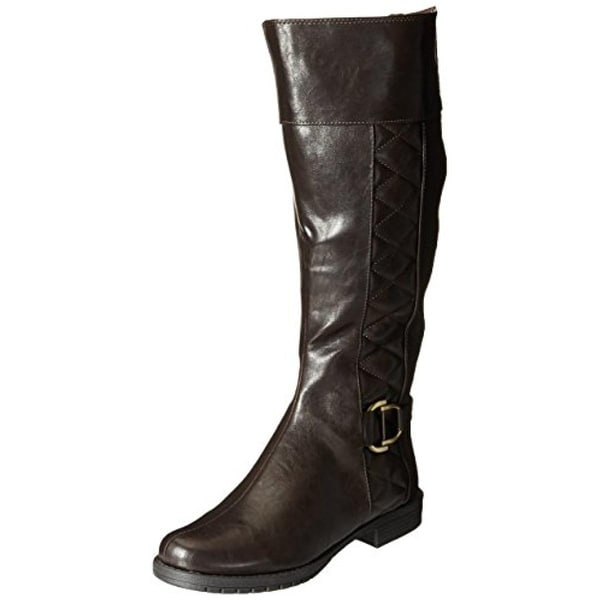 LifeStride Womens Marvelous Riding Boots Wide Calf Knee High