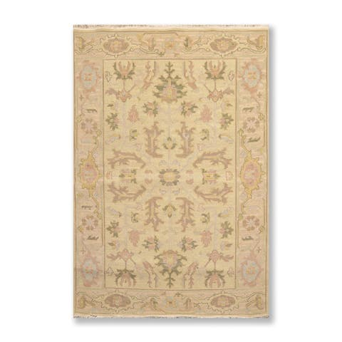 Hand Knotted Reversible Nourison Nourmak Dusty Green,Gray Oriental Area Rug Wool Traditional Oriental Area Rug (3x5)