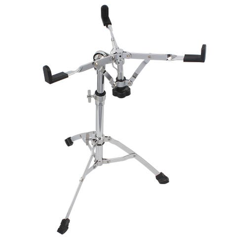 Chrome Plated Dumb Snare Drum Stand Tripod Silver