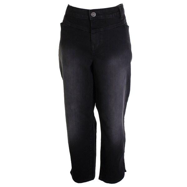 c598b7aaa28 Shop Style & Co Petite Plus Size Brown Tummy Control Pants 24W ...