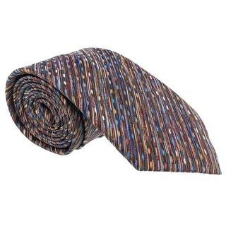 Missoni Diagonal Textured Multicolor Woven 100% Silk Tie