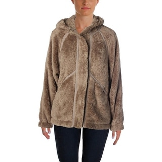 Minnie Rose Womens Sherpa Outerwear Jacket - S