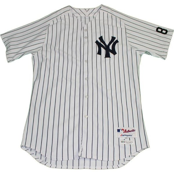 the latest 5ad26 01252 Chasen Shreve Jersey NY Yankees 2015 Game Used 45 Pinstripe Jersey with  Yogi Berra 8 Commemorative