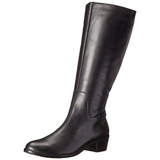 Rose Petals by Walking Cradles Womens Curly Wide Calf Leather Riding Boots
