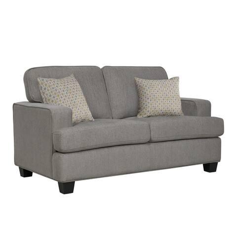 Porch & Den Donner Contemporary Upholstered Loveseat