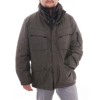 Sam N.Y.C Optional Hood Zipper Parka Parka Military