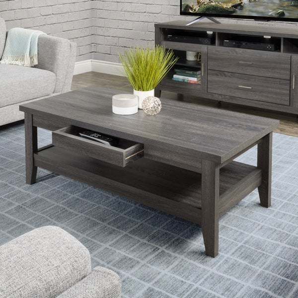 CorLiving Hollywood Coffee Table with Drawers. Opens flyout.