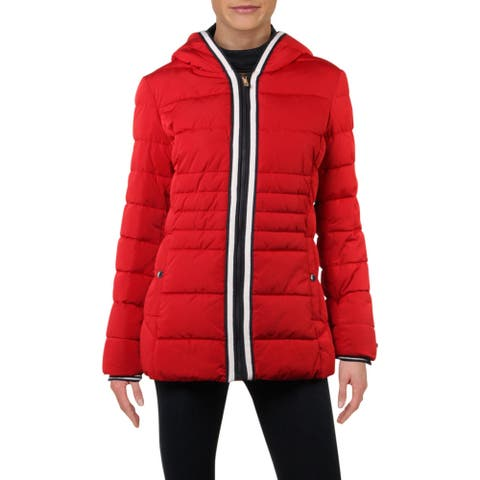 Tommy Hilfiger Womens Puffer Coat Winter Cold Weather