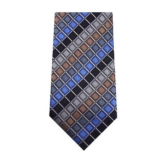 Kenneth Cole Reaction William Geo Classic Silk Necktie Multi-Color - One Size Fits most