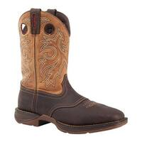 "Durango Boot Men's DB019 11"" Steel Toe WP Western Boot Brown/Goldenrod"