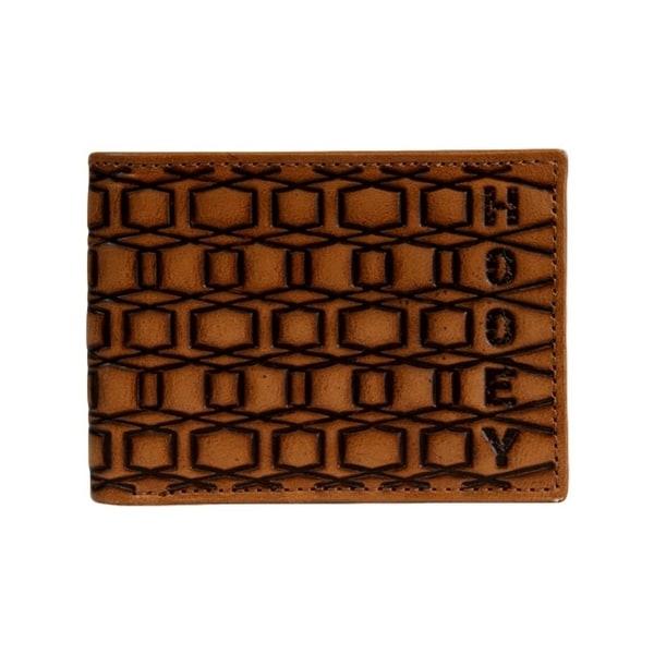 "HOOey Western Wallet Men Pocket Bifold Signature Tawny Brown - 4"" x 3/4"" x 3 1/2"""