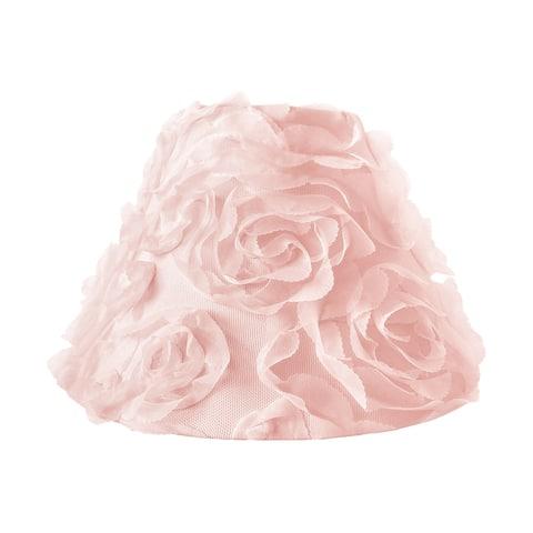 Pink Floral Rose Lamp Shade - Solid Light Blush Flower Luxurious Elegant Princess Vintage Boho Shabby Chic Luxury Glam Roses