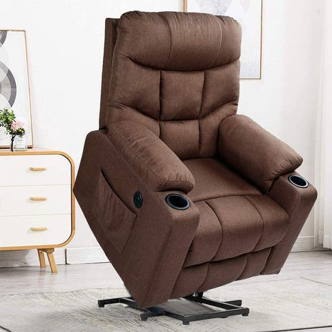Electric Power Lazy Boy Recliner Chair Sofa with Vibration Massage & Heat Function