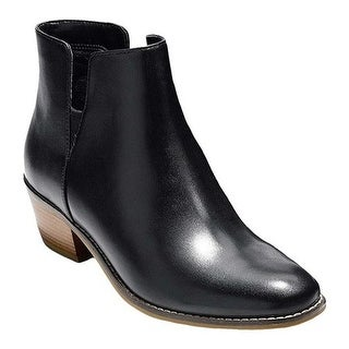 Cole Haan Women's Abbot Bootie Black Leather