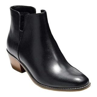 d9fb0ec50a8 Cole Haan Women s Abbot Bootie Black Leather