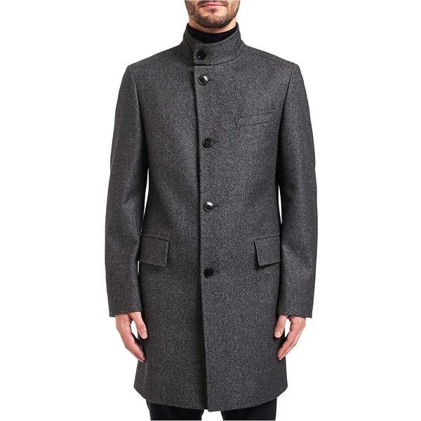 Shop Hugo By Hugo Boss Mens C Sintrax Band Collar Coat 42r