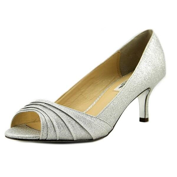 Nina Carolyn Women Peep-Toe Canvas Heels