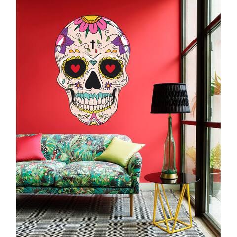 Mexican Skull Decal, Mexican Skull Sticker, Mexican Skull Wall Art