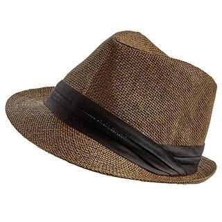 Women's Men's Straw Summer Fedora Hat