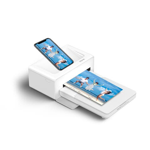 iHome Photo Printer Dock, Full Size 4x6 inch Printouts (White)