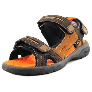 Umi Reece Youth Open-Toe Synthetic Brown Sport Sandal