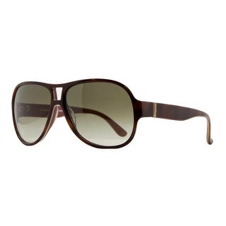 Salvatore Ferragamo SF 623/S 222 Light Havana Aviator Sunglasses - 59-13-135