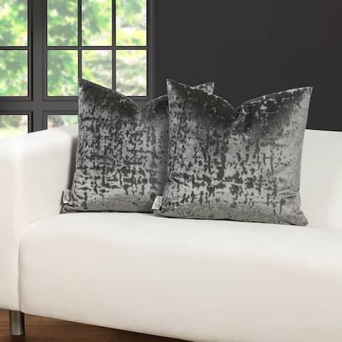 F. Scott Fitzgerald High Society Silver Throw Pillow