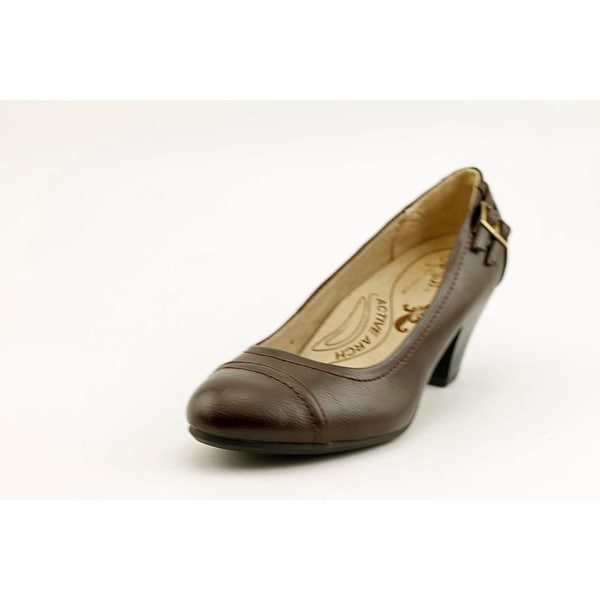 Life Stride Give W Round Toe Leather Heels