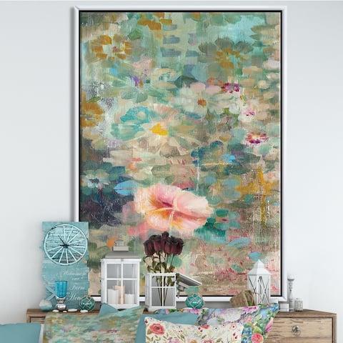 Silver Orchid 'Flower Shower II' Cabin & Lodge Framed Canvas - Pink