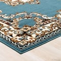 "Allstar Blue Woven High Quality Rug. Traditional. Persian. Flower. Western. Design Area Rug (5' 2"" x 7' 1"") - Thumbnail 2"