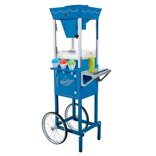 Nostalgia Electrics SCC-200 Vintage Collection Snow Cone Cart - Blue